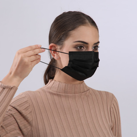 Our disposable 3PLY masks are primarily intended to protect against airborne infective agents originating from the respiratory tract of others as well as against potentially contaminated fluid splashes. They provide users with an excellent protective barrier and are made with 3-ply construction including a melt blow filter. Our masks provide bacterial filtration properties that exceed the minimum requirements of the European TypeII standard and easily slide over the ear with a soft elastic rubber loop that holds the mask securely to the wearer. Packaged in the 50s Completely Black in Colour 3PLY Construction Meltblown Filter 98% Minimum Bacterial Filtration Latex-free Nickel Free Cadmium Free Fibreglass Free CE Marked With Ear Loops Ideal for Personal Protection What's in the box? 50 x Disposable 3PLY Facemasks with Earloop - Black