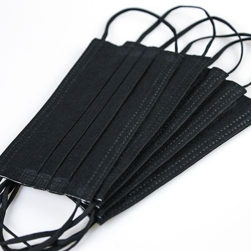 3PLY Disposable Black Facemask with Earloop