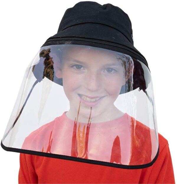 The bucket hat with detachable shield