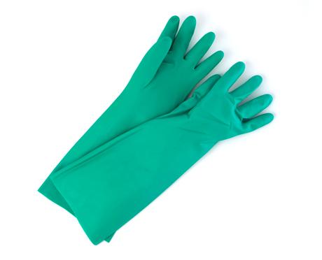 Pair of Green Nitrile Household Gloves